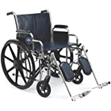 Medline Excel Extra-Wide Elevating Wheelchairs, RDLA, 22 Inch