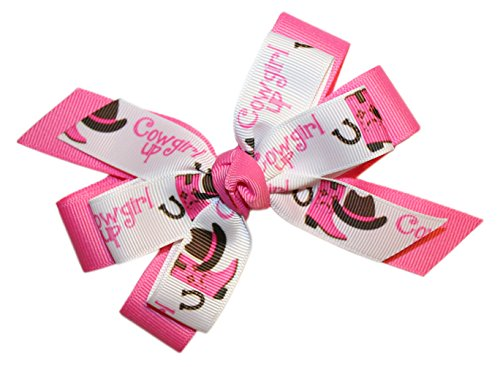 Webb Direct 2U Girls Cowgirl Up Grosgrain Hair Bow Alligator Clip (5256A) front-772969
