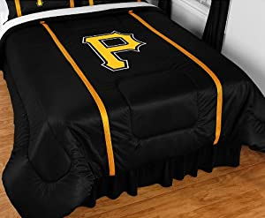 PITTSBURGH PIRATES QUEEN 16 PIECE BEDDING COMFORTER BED IN A BAG BEDROOM DECOR by PITTSBURGH PIRATES