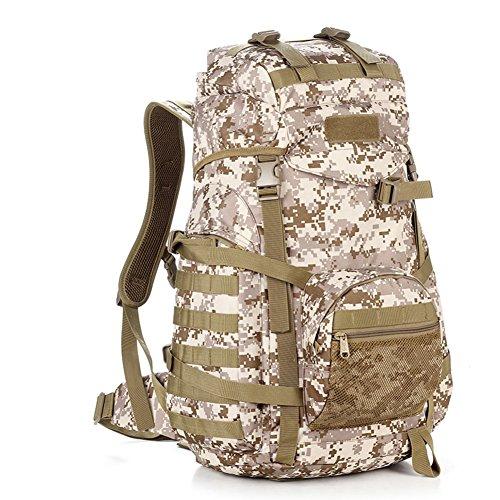 Grand sac / sac à bandoulière capacité camouflage / sac à dos tactique extérieur / sac d'alpinisme-3 60L