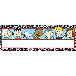 Eureka Peanuts Composition Tented Name Plates, includes 36 tented name plates, measuring 9.62\