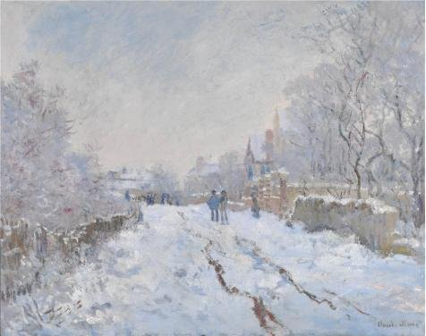 Oil Painting 'Snow Scene At Argenteuil, 1875 By Claude Monet', 10 x 13 inch / 25 x 32 cm , on High Definition HD canvas prints is for Gifts And Bar, Basement And Living Room Decoration (Cup Holder For Snow Blower compare prices)