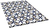 Vivid Collection 5x7 Vivid Out11 Abstract Indoor/Outdoor Rug, 5 by 7-Feet, Beige/Blue