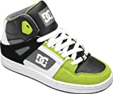 Dc Youth's Rebound Hi Skate Trainers - Black / Soft Lime