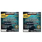 Kirkland Minoxidil 5 percent Extra Srength uYFZax Hair Regrowth For Men, 6 Month Supply, 2 Ounce Bottle, 6 Count (2 Pack)