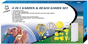 LA Sports Jeu 4 en 1 Plage et jardin