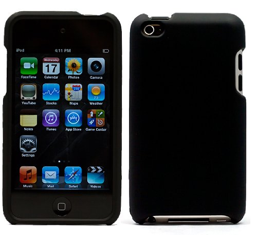 Black Hard Cover for iPod touch 4th gen
