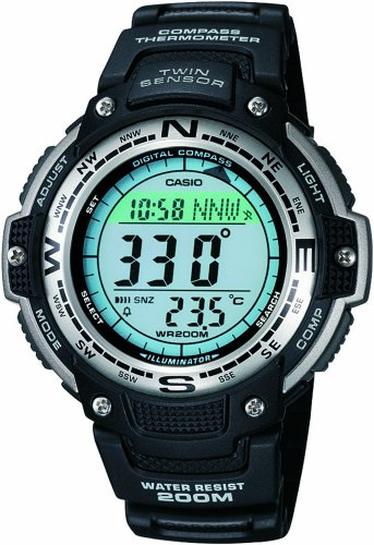 Casio Compass Watch Men&#8217;s Twin Sensor Sport Watch #SGW100-1V