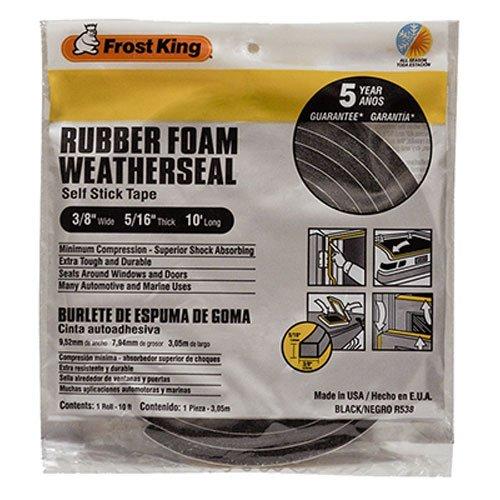 Frost King R538H Sponge Rubber Foam Tape 5/16-Inch, Black (Automotive Weatherstrip Tape compare prices)