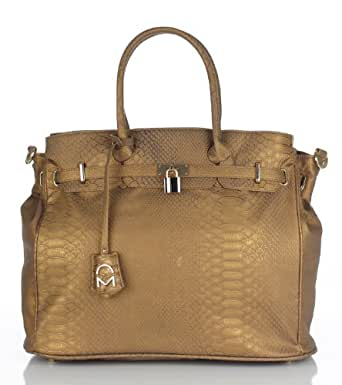 Noble Mount London Office Tote - Snake Bronze