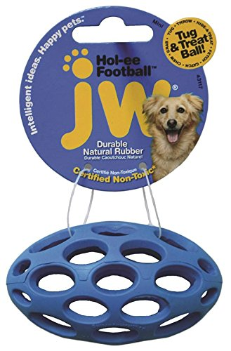 JW Pet Company Mini Hol-ee Football Dog Toy, Colors Vary (Puppy Football compare prices)