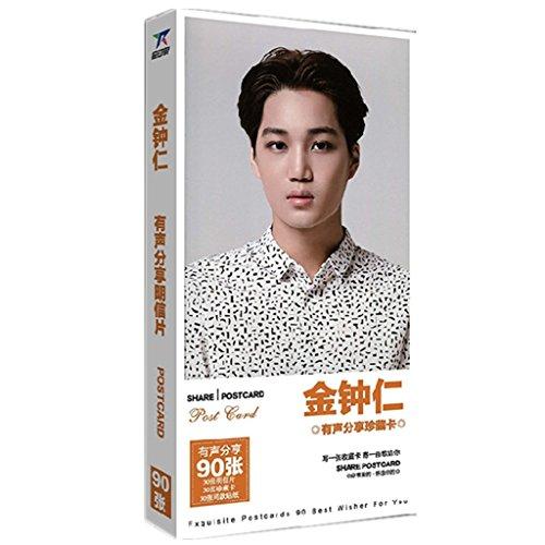 Fanstown EXO german DLE JUNGS postcard photo album EXO-K EXO-M(90pcs) (Kai) (Exo Goods compare prices)