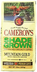 CAMERON'S Organic Whole Bean Coffee, Mountain Gold, 10-Ounce