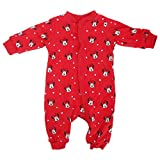 Disney Minnie Mouse Baby Girls Patterned Long Sleeve Bodysuit/Sleepsuit