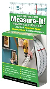 Incom RE6448 Measure-It! Hands Free Project Tape, 1-Inch by 48-Foot