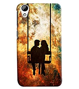 Clarks Couple On Swings Hard Plastic Printed Back Cover Case For HTC Desire 626