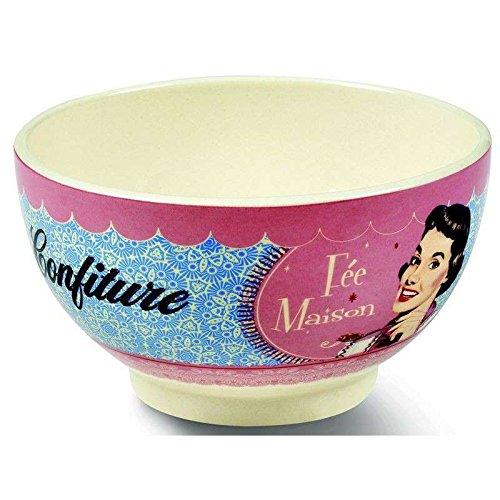 BOLO ciotola tazza colazione cereali ZUPPA NATIVES tipo VINTAGE decoro 312260 CONFITURE Fée Maison