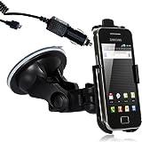 Wicked Chili 716+701+17 - Soporte de coche con cargador para Samsung Galaxy ACE S5830/GT-S5830 (1000 mAh, 12 V, 24 V), color negro