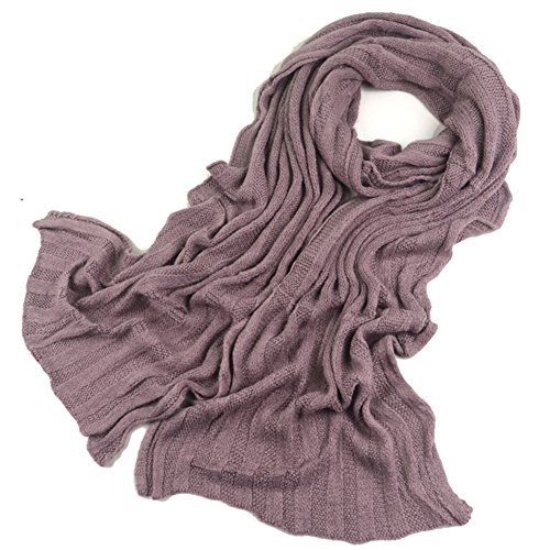 Toptie Women'S Knit Scarf Winter Shawl, Extra Long, Gift Idea Lilac