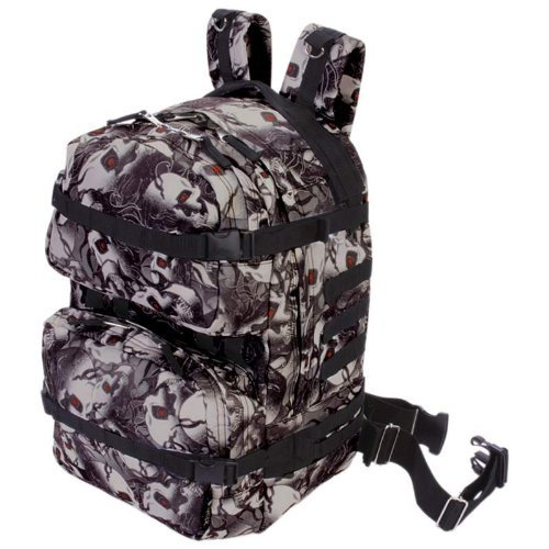 Extreme Pak LUBPSKRE2 Extreme Pak Red-eye Skull Camo Water-resistant 19 Backpack by B&F