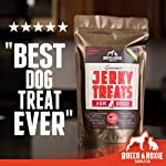 Healthy Dog Treats - Made in USA Only - Best Slow-Smoked Beef Dog Food in Pet Supplies - Great Dog Training Treats - Gluten-Free Dog Treats - 1 lb. Bag - Beef Jerky Treats Your Dogs Will Love, GUARANTEED from Rocco & Roxie Supply Co.