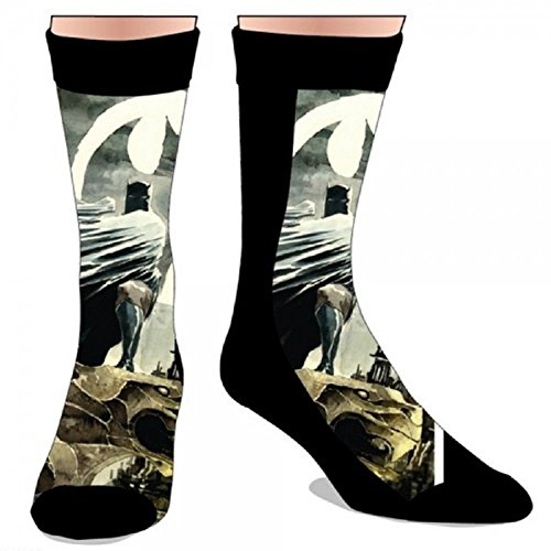 DC Comics Batman Sublimated Mens Crew Socks by Toy Zany - 1
