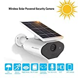 Outdoor Solar Powered Security Camera Low Power Rechargeable Battery Wire Free Solar WiFi Camera 960P IP66 Waterproof Outdoor Wireless Security Camera,Night Vision,Motion Detection,for Android and iOS (Color: White)