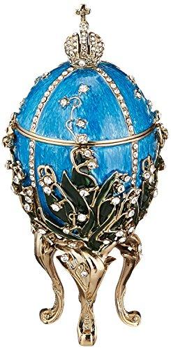 Progettare uova Toscano QF30309 Zarin Valentina smaltate in stile Fabergé da collezione