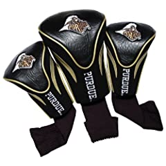 NCAA Purdue Boilermakers 3 Pack Contour Golf Club Headcover by Team Golf