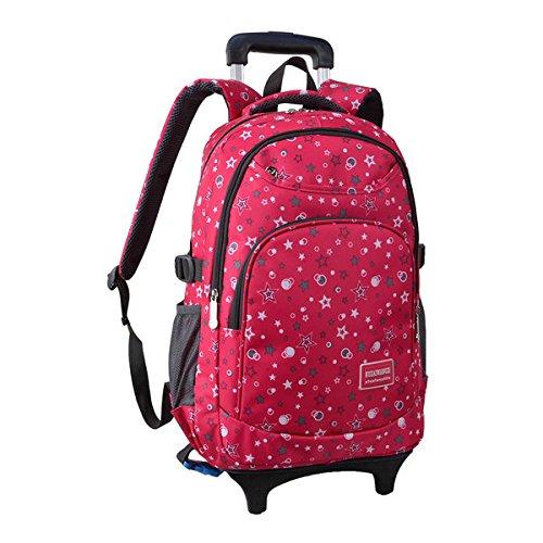 sac d cole sac dos cartable roulettes pour gar on fille enfants nylon les petites. Black Bedroom Furniture Sets. Home Design Ideas