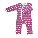 Organcis for Kids Bird Silhouette Print All in One Romper - Purple 6-12 Months