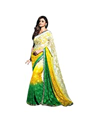 Appreciable Embroidered Bordered Faux Georgette Saree