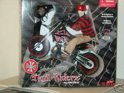 Buy West Coast Choppers Jesse James 1:6 Scale Skull Riderz Radio Controlled RC Motorcycle