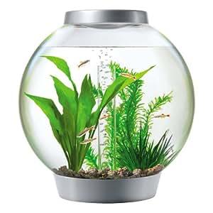 Baby biOrb Moonlight Aquarium 15 l - Silber - Design Komplett Aquarium 15 Liter