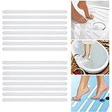 Incutex 16x Anti Rutsch Streifen für Badewanne und Dusche 38 cm lang - 2 cm breit, selbstklebend, transparent