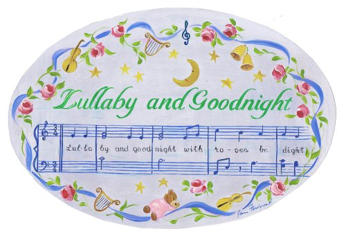 The Kids Room by Stupell Lullaby and Goodnight Oval Wall Plaque