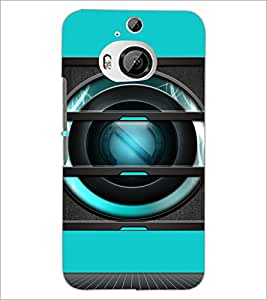 PrintDhaba Speaker D-3493 Back Case Cover for HTC ONE M9 PLUS (Multi-Coloured)