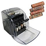 Royal Sovereign Sort N Save Manual Coin Sorter, Black/Clear + 216 Pcs Assorted Coin Wrappers