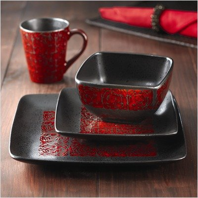 american atelier yardley red 16 piece dinnerware set review