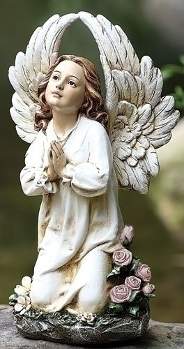 cheap roman angel kneeling garden statue indoor outdoor. Black Bedroom Furniture Sets. Home Design Ideas