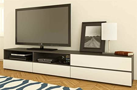 Allure Entertainment Kit with 60'' TV Stand with 2 Open Shelves & 36'' TV Stand with 2 Drawers