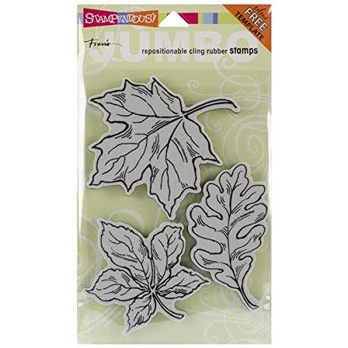 stampendous-halloween-jumbo-cling-rubber-stamp-7-inch-x-5-inch-sheet-leaves
