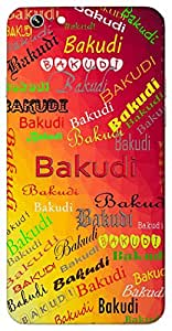 Bakudi (Small Bowl) Name & Sign Printed All over customize & Personalized!! Protective back cover for your Smart Phone : Moto E-2 ( 2nd Gen )