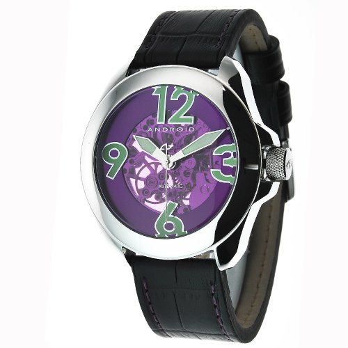 Android Men's AD478APU Concept T 2 Skeleton Automatic Purple Domed Crystal Watch