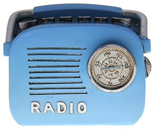 JustNile Retro Blue Radio Coin Bank - 1