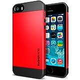 iPhone 5 Case, Spigen Slim Armor Color Case for iPhone 5S/5 - 1 Pack - Retail Packaging - Crimson Red (SGP10100)
