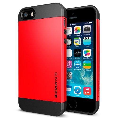 国内正規品SPIGEN SGP iPhone5/5S ケース スリムアーマーS [クリムゾンレッド] SGP10366