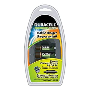 Duracell Mobile Charger With 2AA And 2AAA Pre Charged Rechargeable Nimh Batteries, CEF23DX4N