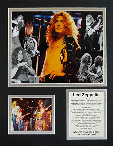 """Led Zeppelin - Collage 11"""" X 14"""" Unframed Matted Photo Collage By Legends Never Die, Inc."""