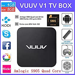 Vuuv V1 Android 5.1 Smart TV Box (Black)